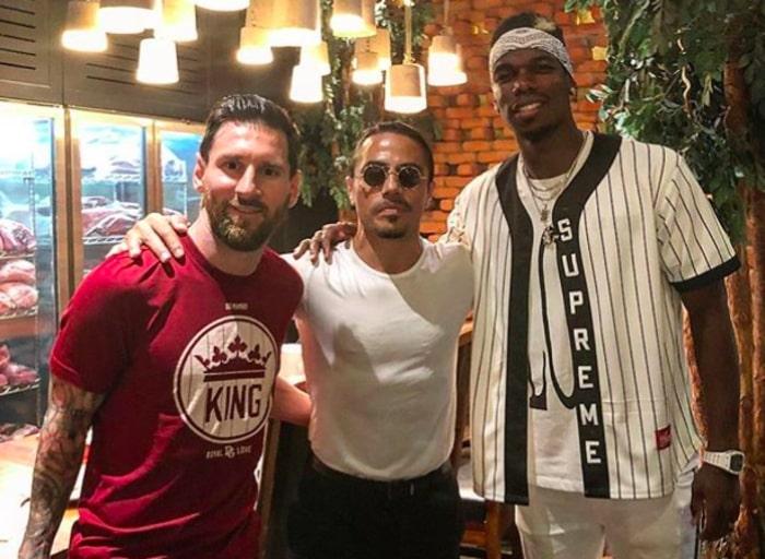 Salt Bae with Lionel Messi